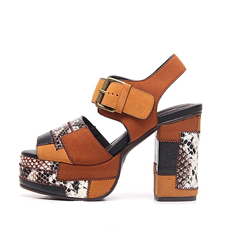 Sandales femme talon haut femme gladiateur cuir chaussures ceinture boucle Design femme chaussures plateforme marque Chic chaussures Sapato FemininoSandales femme talon haut femme gladiateur cuir chaussures ceinture boucle Design femme chaussures plateforme marque Chic chaussures Sapato Feminino