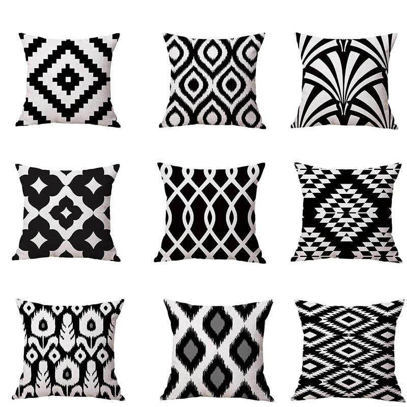 Cushion Cover Geometric Throw Pillow