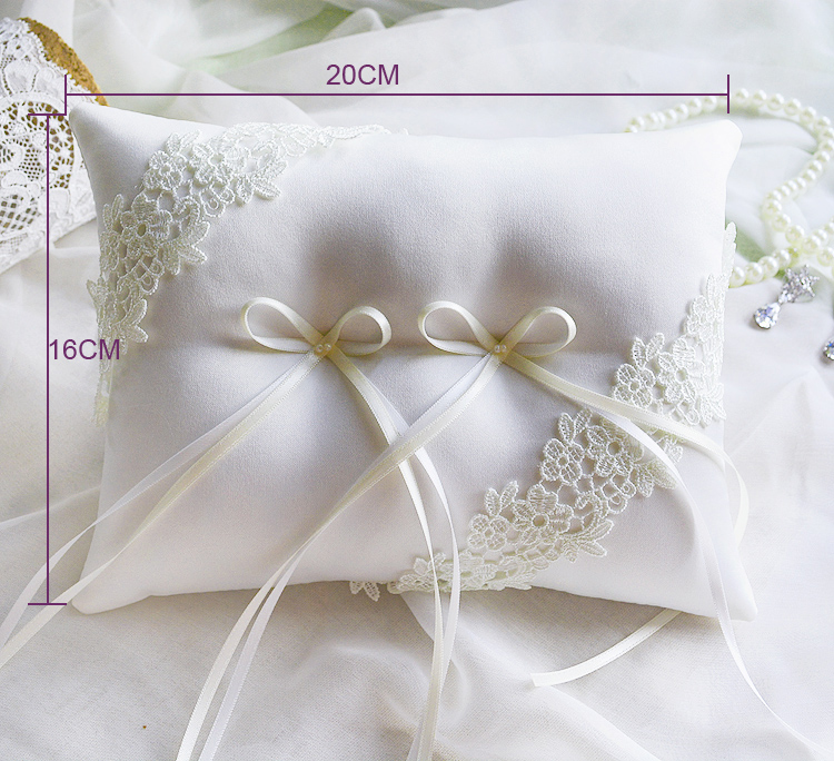 aliexpresscom buy handmade high quality wedding ring pillow white lace ring pillow rectangle ring pillow for wedding 20 x16cm wedding decorations from - Wedding Ring Pillow