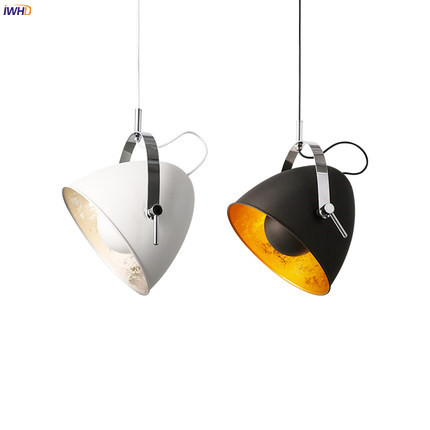 IWHD Nordic Modern LED Pendant Lights Fixtures Living Room Black White Hanging Lamp Lampen Suspension Luminaire Home Lighting iwhd glass led pendant lights modern brief wood hanging lamp edison bulb light fixtures suspension luminaire home lighting