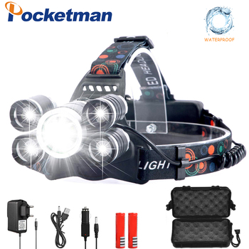 цена на LED headlamp 4000lumens fishing headlight T6 Brightest Head Torch flashlight Head lamp lampe frontale use 18650 by Fishing