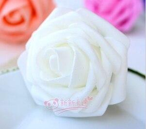500 шт. X(6 см) один Пена розовыми цветами стволовых в 12 различных Цвета для выбора свадебные цветы.* по EMS - Цвет: white