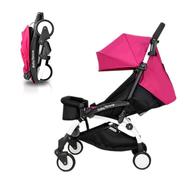 Ультра портативный складной коляски раздел обновления может сидеть и лежать четыре колеса подвески коляски