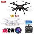 Syma x5sw drones fpv rc quadcopter drone con cámara wifi vs x5c 2.4g 6-axis rc helicóptero en venta