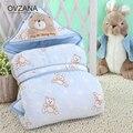 Conejo Del Bebé Del Invierno de Sobres de Algodón para Recién Nacido Swaddle Wrap Manta Sleepsack Bebé Recibir Mantas de bebé Super suave BB125