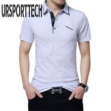 цена на 5XL Summer Mens T Shirt Cotton Short Sleeve Lapel Shirt Men Business & Casual Letter Printed Male Tee Shirt Breathable Tees