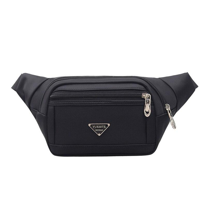Wenyujh 2019 High Quality Waist Bags For Men Black Shoulder Fanny Pack Men Casual Case Money Belt Travel Security Wallet Purse
