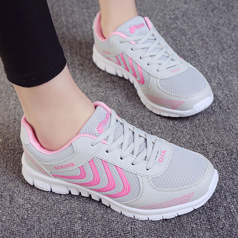 Women Shoes Casual Flat Shoes Woman Lace Up Breathable White Sneakers For Women Round Toe Tenis Feminino Comfortable Footwear