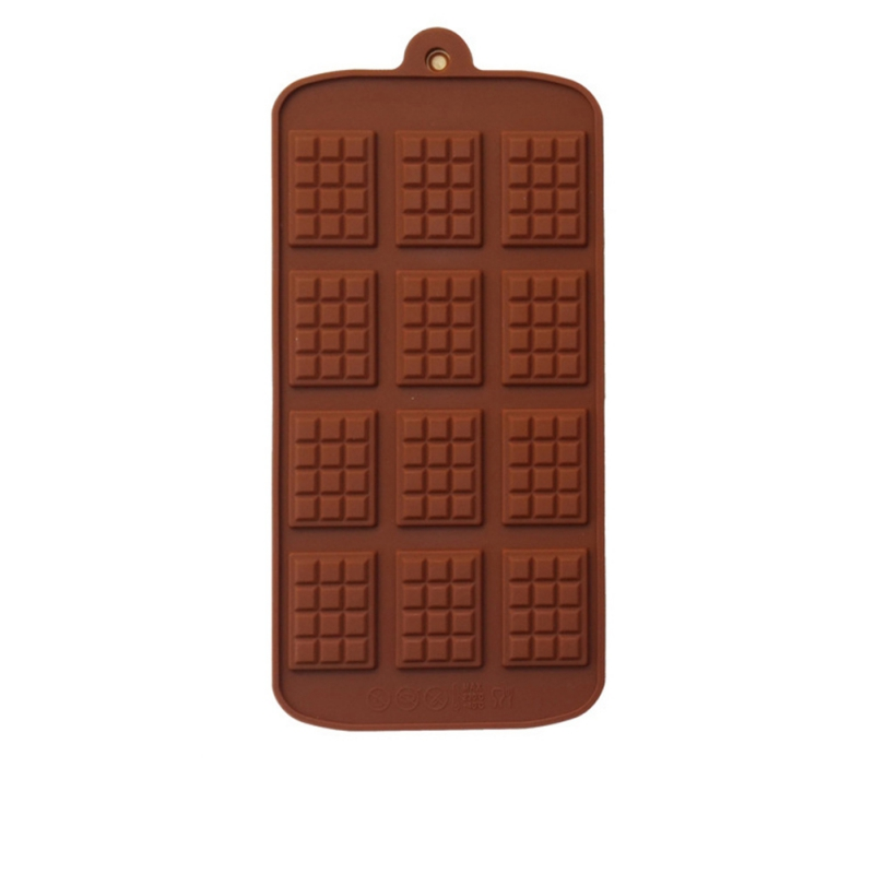 DIY Silicone Chocolate Mold Waffle Pudding Mold Baking Tools Ice Tray Cake Decor Home Kitchen Baking Tool