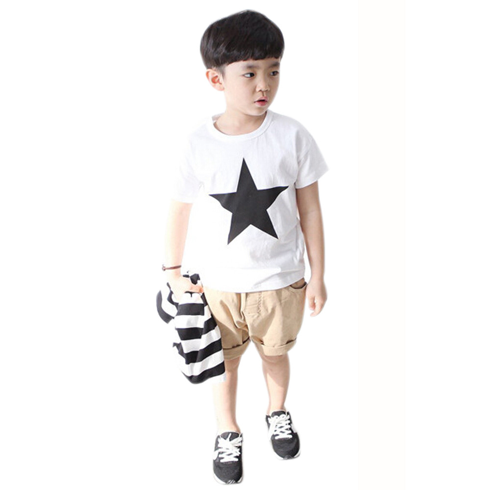 3a4b2a8d46a8 Wholesale Cheap Children Clothing Summer Children Boy Kids Star ...