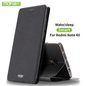 Image 1 - Mofi For Xiaomi redmi Note 4X case For Xiaomi redmi Note 4X Pro case cover silicon flip leather 360 for xiaomi redmi Note4X case