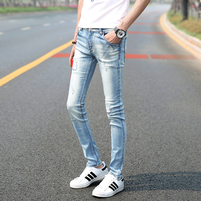 Aliexpress.com : Buy skinny jeans men light blue vintage slim fit
