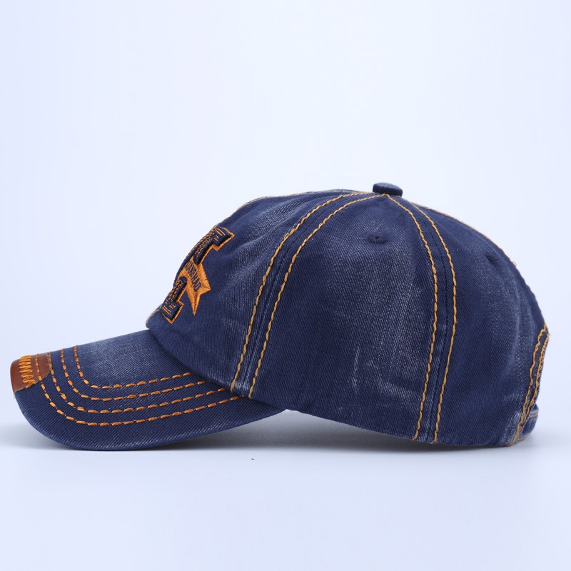 """Embroidered Letter """"M"""" Dad Hat - Side View"""