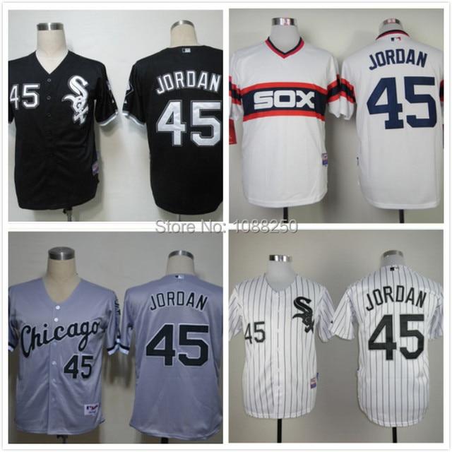 competitive price ab459 6284d mens chicago white sox 45 michael jordan 2015 black jersey