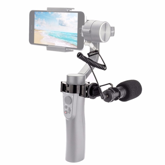 COMICA CVM-VM10-II Kit Cardioid Directional Condenser Video Microphone Mic With Mount for Zhiyun Smooth Q