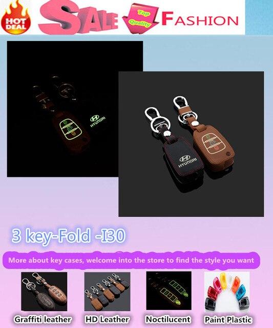 Высокое Качество автомобилей стайлинг крышка детектор Световой Кожаной сумке ключи случаях брелок Бумажник умный/фолд для Hyunda1 I30