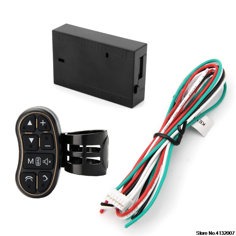Car Steering Wheel Key Button Remote Control For DVD GPS Wireless Remote Control 828 Promotion dc7 5v 10v remote control wireless frequency meter counter for car auto key remote control detector cymometer power supply cable