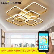 купить AC220V Lustres Modern Led Chandelier Rings Led Ceiling Chandeliers Lighting Indoor Home Living room Kitchen Bedroom Dining room по цене 1993.67 рублей