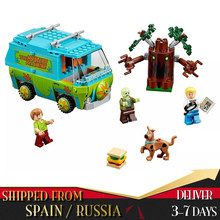 Scooby Doo Mystery Machine Bus Building Block DIY Blocks Toys Compatible With Legoings Birthday Gifts for Children Figure(China)