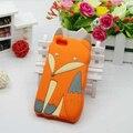Moda 3D Bonito Dos Desenhos Animados Fox Caixa Do Telefone Para iPhone 5/5S Macio Silicon Capa Protetora Hu485
