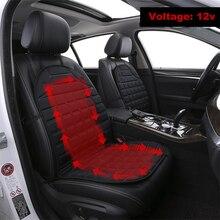 Assento de carro almofada de aquecimento elétrico 12 v aquecida almofada de assento de carro inverno almofada de assento de automóvel aquecida