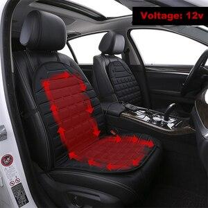 Image 1 - Car seat electric heating pad 12V Heated Car Seat Cushion Winter Auto Cushion Seat Cover Heated Seat Cushion