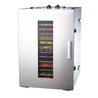 MAIDU ST 02 Food Dehydrators 304 Stainless Steel High Capacity Dried Fruit Machine Dehydration Air Dryer