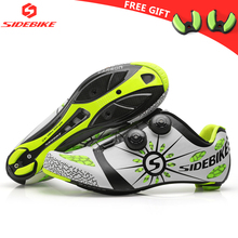 sidebike carbon cycling shoes road bike men racing professional athletic bicycle shoes self lock cycling sneakers breathable