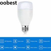 Oobest E27 Smart WiFi LED Light Bulb 6W RGB 16 Million Color For Alexa Voice Control