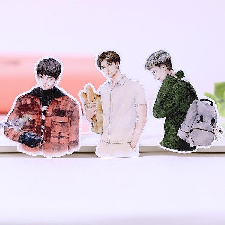 15pcs Creative Cute Self-made Fashion Pop Boy Sticker Scrapbooking Stickers /decorative Sticker /DIY Craft Photo Albums
