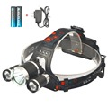 5000 Lumen Bright Headlamp Flashlight, 3 CREE T6 LED Headlight Torch with Rechargeable Batteries and Charger for Outdoor Sport