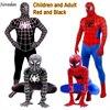 Red Black Spiderman Costume Spider Man Suit Spider Man Costumes Adults Children Kids Spider Man Cosplay