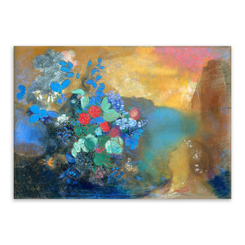 Christmas Gift Modern Abstract Colorful Flowers Oil Painting by Odilon Redon Home Decor Art Painting on Canvas Handpainted
