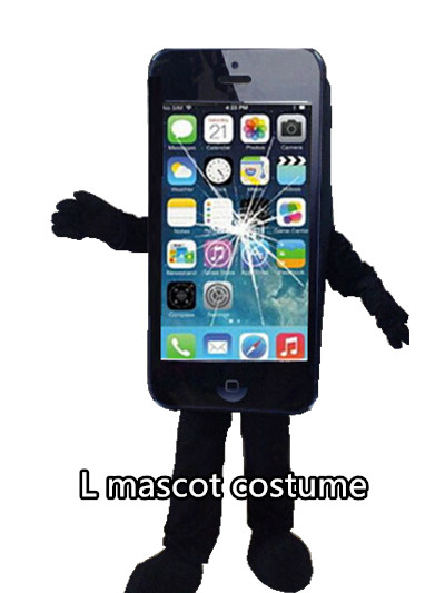 Mobile advertising Cell Phone Mascot Costume suits Cosplay Dress Adults Size hot