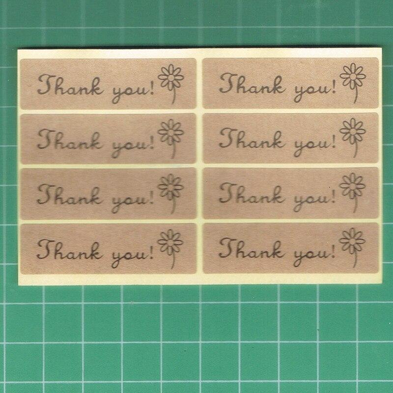 Купить с кэшбэком Thank You kraft label sticker self-adhesive label tag For DIY Hand Made Gift /Cake /Candy paper tags kraft etiquetas 100pcs/lot