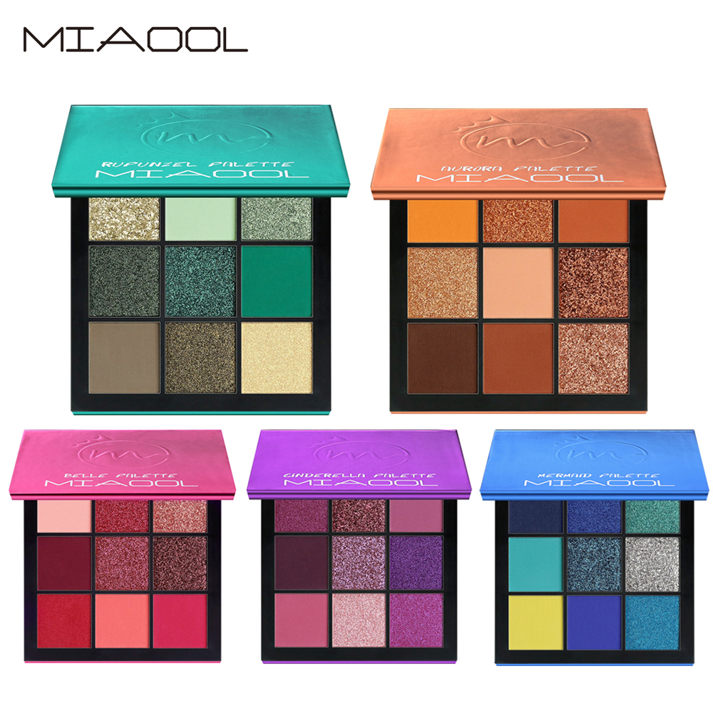 Miaool Obsessions Palette Topaz 9 Colors Shimmer Matte Eyeshadow Palette Beauty Precious Stone Mini Makeup Eye Shadow Beauty & Health