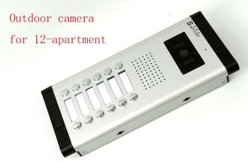 SMTVDP Apartment Video Door Phone Camera Intercom IR Night Vision Doorbell for 12 Units Apartment Suitable 12-Stories Building building stories