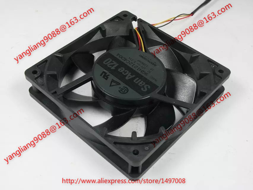 цены на Free Shipping For SANYO 9GH1212C4D04 DC 12V 0.21A 3-wire 3-pin connector 120mm 120x210x25mm Server Cooling Square fan в интернет-магазинах