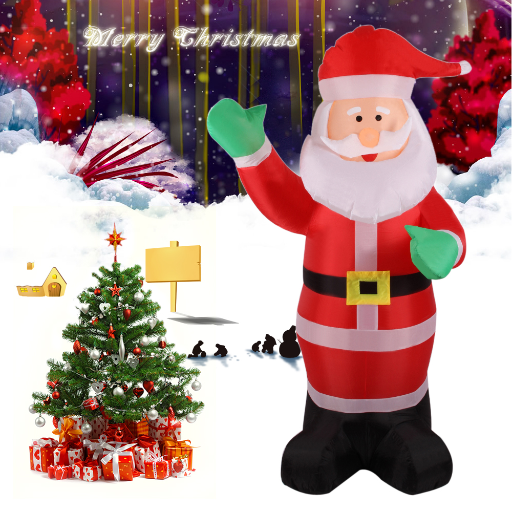 Inflatable santa claus waving hand christmas for Pere noel decoration exterieur