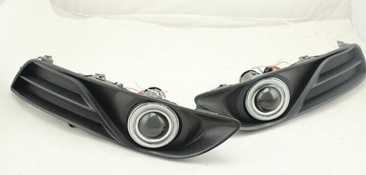 DRL COB angel eye (6 couleurs) + lentille de projecteur + H3 lampe anti-brouillard halogène + couvercle de lampe anti-brouillard pour Nissan Sylphy sentra 2012-14 - 2