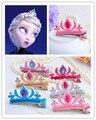 Moda Niño Del Bebé Bebé Hairband de Las Vendas Del Pelo Banda Horquilla Lindo de Dibujos Animados Princesa Anna Elsa Diseño de Cumpleaños