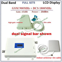 LCD Display High Gain GSM 4G Repeater Dual Band Mobile Phone Signal Booster GSM 900 Dcs
