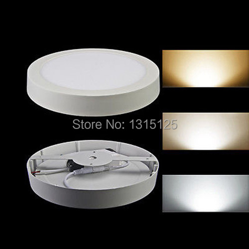 Free shipping Round 24W led panel light surface mounted led ceiling light panel,120pcs SMD2835 High Bright Intensity,10pcs/lot 1200 150mm 24w led panel light smd2835 school hospital super market workshop office home hotel meeting room lighting white