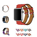URVOI band for apple watch Series 1 2 top layer leather strap Double Buckle Cuff for Hermes iwatch2 Modern fashion design