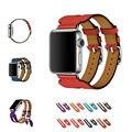 Urvoi banda para apple watch series 1 2 capa superior correa de cuero de Doble Hebilla Del Manguito para Hermes iwatch2 moda Moderna diseño