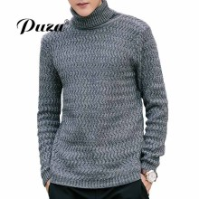 2017 New Herfst Mode Merk Casual Sweaters Slim Fit Winter Turtleneck Truien En Mannen Pullover Men Truine Men Effen Kleur M-5XL