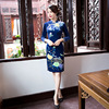 New Arrival Fashion Short Women Cheongsam Dress Chinese Ladies Elegant Qipao Novelty Sexy Dress Size S