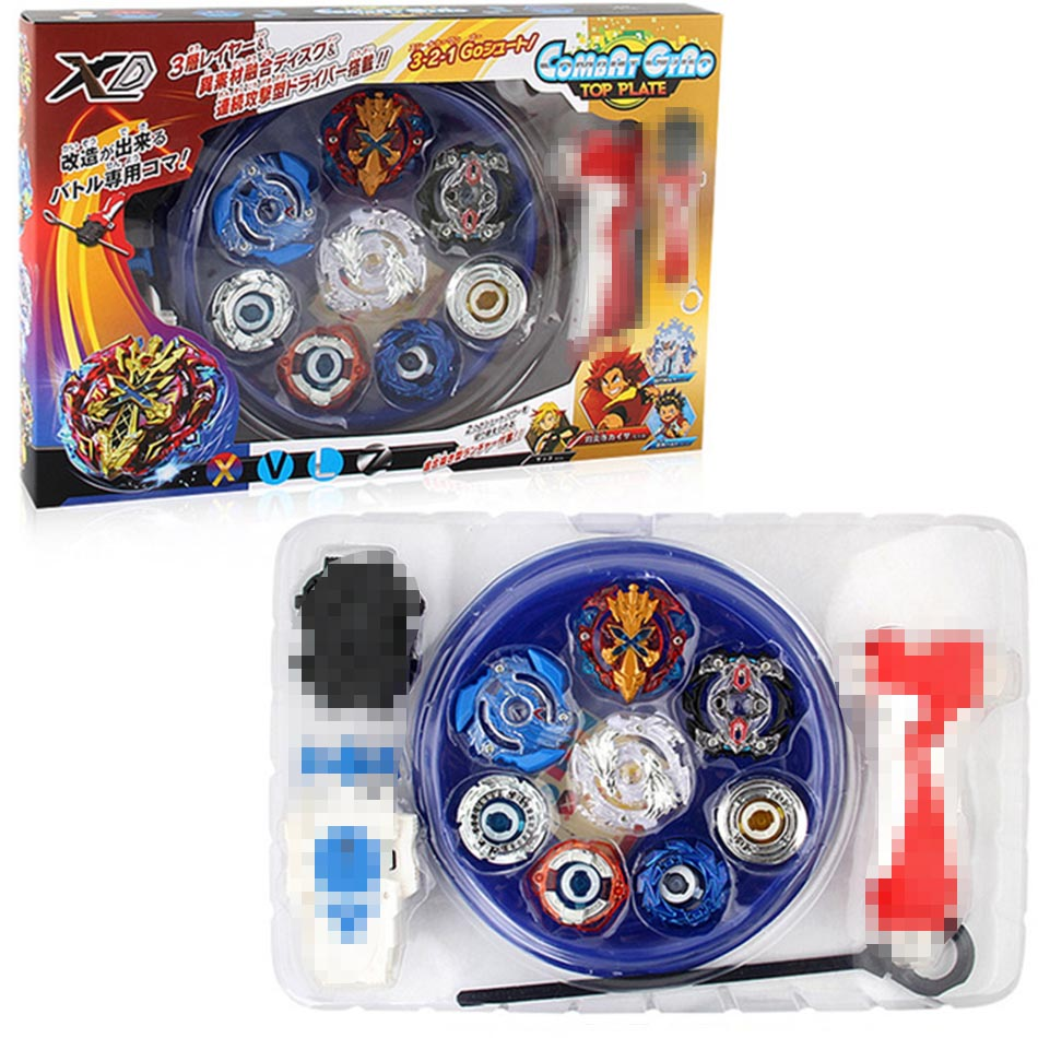 New 4pcs Boxed Bayblade  Beyblade Burst 4d Set With Launcher Arena Metal Fight Battle Fusion Classic Toys With Original Box