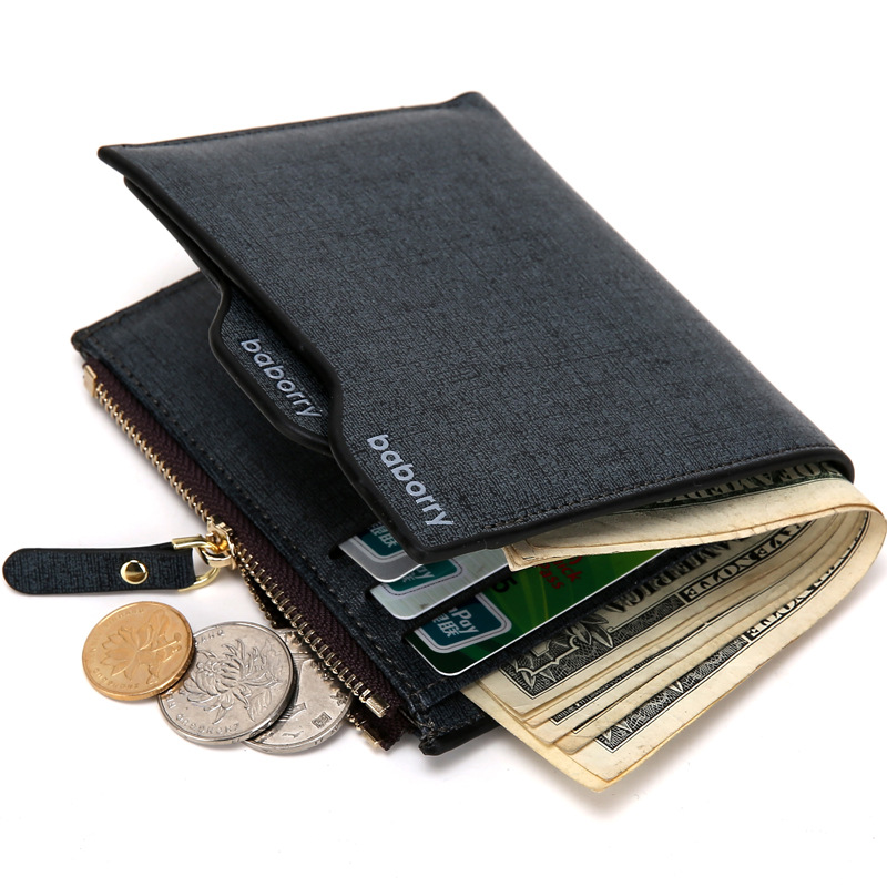 Men/'s Gents Super Soft Black Leather Wallet Zipped Coin Section Card Slot ID