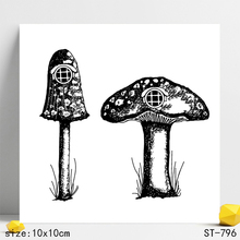 ZhuoAng Realistic Mushroom Clear Stamps/Seals For DIY Scrapbooking/Card Making/Album Decorative Silicon Stamp Crafts